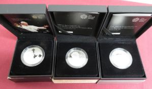 Royal Mint 2014 Alderney 100th Anniversary of the Birth of Dylan Thomas silver proof coin, similar
