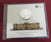 The Royal Mint Buckingham Palace 2015 UK £100 Fine Silver Coin, in original packaging