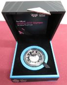 Royal Mint The Official London 2012 Olympic £5 Silver Proof Coin, in case