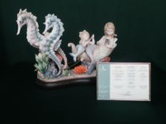 """Lladro figurine 6929 """"Underwater Journey"""" Limited Edition Number 200/1000, in original box with"""