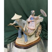 """Lladro figurine 1383 """"A Ride In China"""". H28cm, including base."""