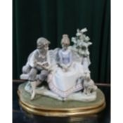 """Lladro figurine 5442 """"Poetry of Love"""". H22cm, including base."""
