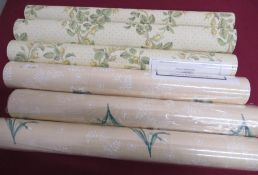 Nine rolls of Colefax & Fowler The Chintz wallpaper collection Victoria wallpaper and three rolls of