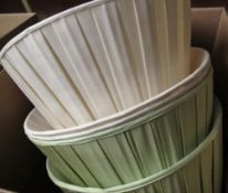 Eleven pleated cotton and other standard lamp shades (2 boxes)