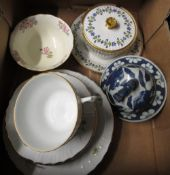 Mon Vermeren-Coche, Bruxelles white porcelain part tea service decorated with flowers and a