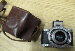 Eljy Lumiere sub miniature camera with an Anastigmat Lypar f3.5 lens in original leather Ever-