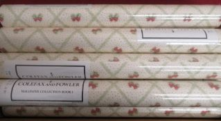 Eight rolls of Colefax & Fowler wallpaper collection Book 1 Bowhill pattern wallpaper