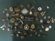 Collection of badges and pins of various types including the boys brigade, Yorkshire and