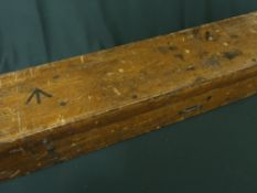 Wooden case (tank sight) with military crows foot markings