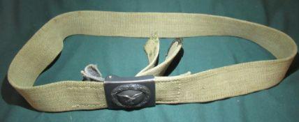 1942 Luftwaffe belt buckle with original webbing