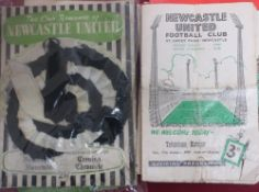 Small collection of post 1950 football programmes including 1951 FA cup final Blackpool Vs Newcastle