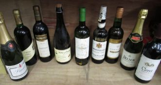 Mixed Alcohol including Louis Bernard Champagne, five various red wines, Sherry, Cider etc various