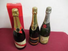 Moet & Chandon Premiere Cuvee Finest Extra Quality Champagne, no proof or contents, G.H.Mumm