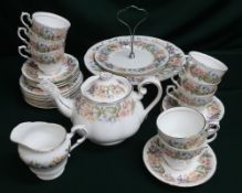 """Paragon """"Country Lane"""" bone china tea and dinner service (QTY)"""