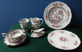 """Collection of bone china comprising of Coalport """"Indian Tree"""" plates, teacups etc., Copeland """"Indian"""