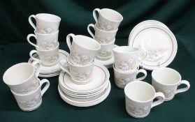 "Royal Doulton ""Florinda"" tea and coffee service (QTY)"