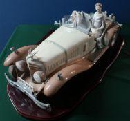 """Lladro figurine 1523 """"A Happy Encounter"""" H36cm L37cm, including base (A/F)"""