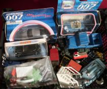 Collection of Corgi, dinky, and other James bond 700 golden eye BMW Z3, die another day Aston martin