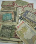 Collection of bank notes including GB 10s, Hong Kong, Japan, Germany, China etc, Special