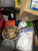 Professional kitchen mandolin, boxed Lexie Cafetiere, other related kitchen ware, etc