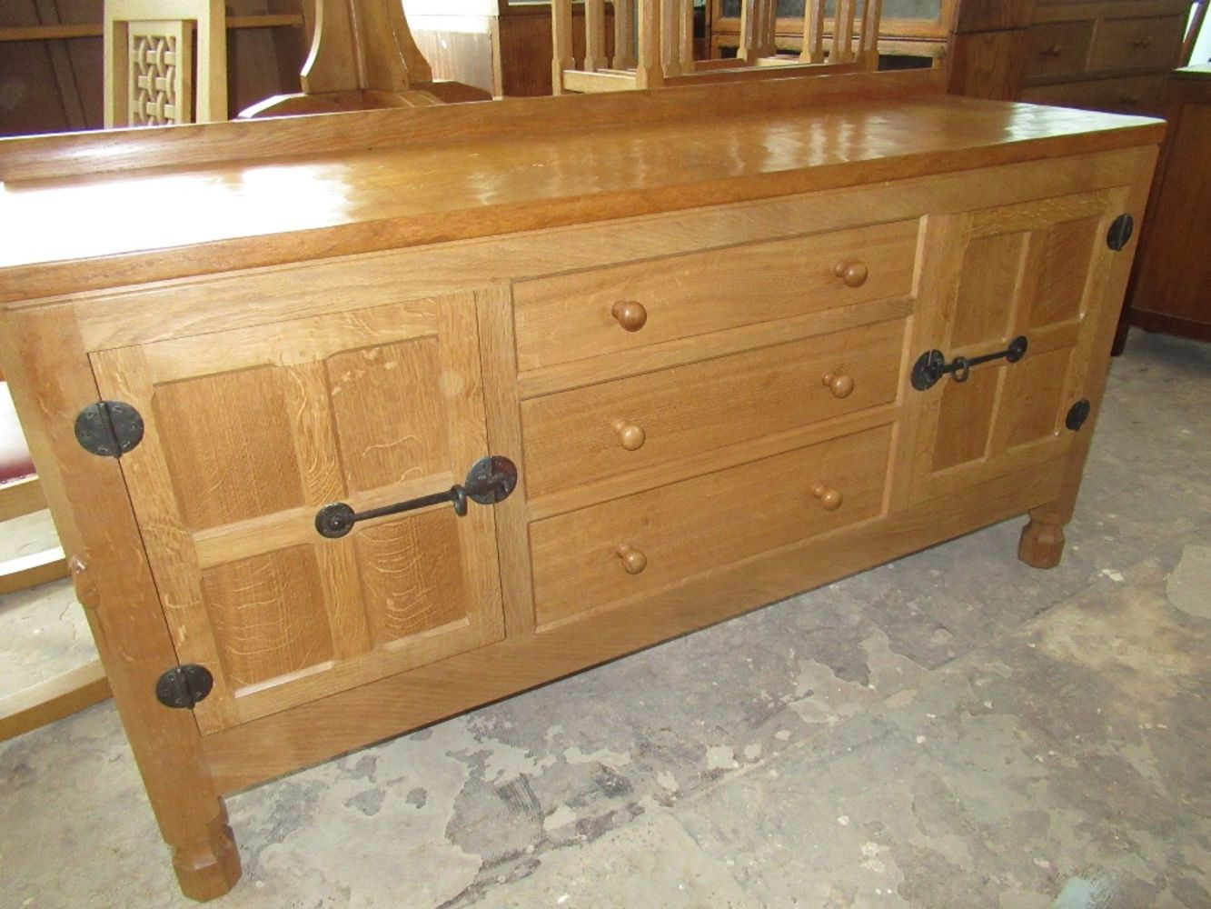 Country House sale including Mouseman and other furniture, silver, jewellery, pictures etc.
