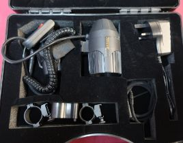 New and unused ex shop stock Tracer LED Ray Tri-Star lamping gun kit in box with charger and