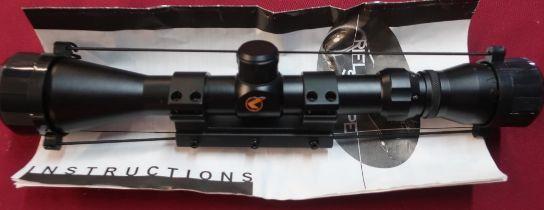 Boxed new Gamo rifle scope, 3-9x40W1PM, L32cm