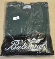 As new Balmoral of Scotland sweatshirt (green) with pheasant embroidery on chest XL