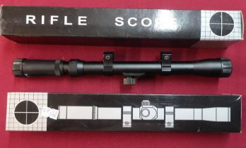 Two new boxed rifle scopes for .22 and air guns, 3-7x20, L29cm (2)