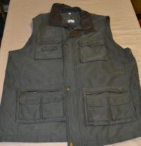 Mian shooting/fishing vest in charcoal XXL as new