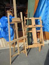 Winsor & Newton beach artists easel, 2 other artists easels (3)