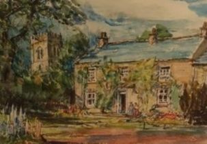 Rowland Henry Hill (Staithes Group 1873-1952): The Old Rectory Middleton, watercolour, signed and