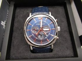 Jacques Lemans Sport's chronograph quartz wristwatch with date indicator, stainless steel case on