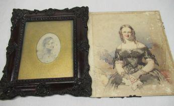 Craigie of Glendoick House - British School (C19th) Half length portrait study of Gracie Bell,