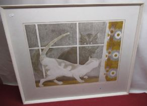 """Sylvia Worthington (Contemporary); """"Mortimer and Jasmine"""", Ltd.ed print 2/50, numbered titled and"""