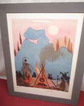Salvador Dali (Spanish 1904 - 1989); 'Carmen sings The Gypsy Songs' colour lithograph, signed and