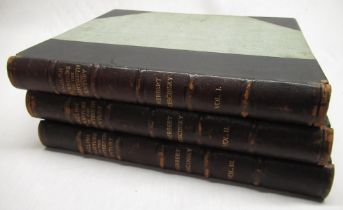 Cescinsky, Herbert: English Furniture of The Eighteen Century, b/w illust. pub London, half calf,