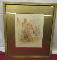 """William Chapman (1817 -1879); """"The Old Walls York"""" watercolour, signed and dated 76, inscribed verso"""