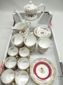 """Royal Grafton """"Malver"""" 15 piece tea service and spode """"Regent"""" set of 6 coffee cans and saucers"""
