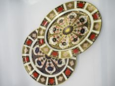 Royal Crown Derby 1128 Old Imari pattern - large circular plate D35cm, and another oval dish
