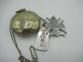 Victorian Maltese cross Masonic jewel engraved with grip and NIOF Lady Johnstone Lodge, A.Sellers