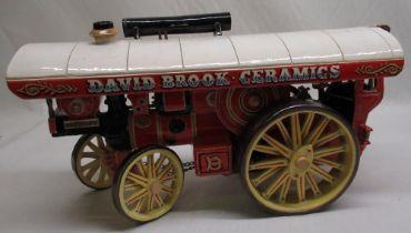 David Brook Ceramics Fowler showman's traction engine L46cm