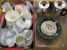 Birks Rawlins and Co part tea service, another vintage white tea service, a Sona coffee pot and Sona