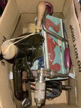 Paramo no. 10 plane master wood working plane (boxed), carpenters brace, hub puller, Permuvar R& P