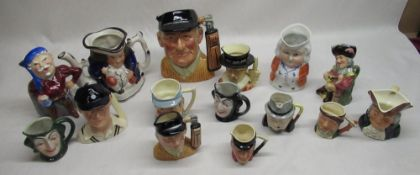 Collection of toby jugs by Royal Doulton, Shelly, Kelsboro ware, Viking, Cobridge, etc (15)