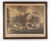 Property of a deceased estate - after George Morland - 'A MAD BULL' - aquatint, 13.4 by 16.55ins. (