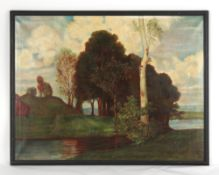 Property of a lady - late 19th / early 20th century English school - RIVER LANDSCAPE - oil on