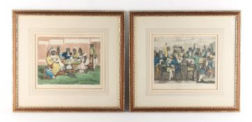 Property of a lady - 'Life in Philadelphia' - a pair of coloured aquatints, circa 1830, in