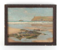 Property of a deceased estate - Alexander Edward Waite (1888-1958) - BEACH SCENE and verso COTTAGE
