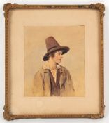Property of a gentleman - Italian school, late 19th / early 20th century - A PORTRAIT OF A PEASANT